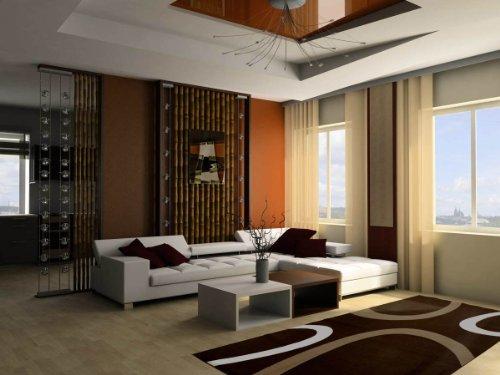 Lalee-347138791-Moderner-Designer-Teppich-Muster-Kreise-Retro-Neu-Braun-Grsse-160-x-230-cm-0-1