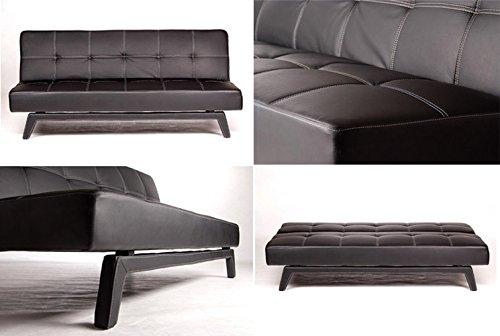 NEG-Design-Schlafsofa-HYPNOS-schwarz-Napalon-Leder-SofaKlappsofa-3-Sitzer-groe-Liegeflche-180x108cm-sehr-bequem-0-0