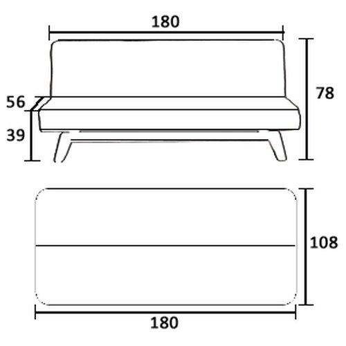 NEG-Design-Schlafsofa-HYPNOS-schwarz-Napalon-Leder-SofaKlappsofa-3-Sitzer-groe-Liegeflche-180x108cm-sehr-bequem-0-2