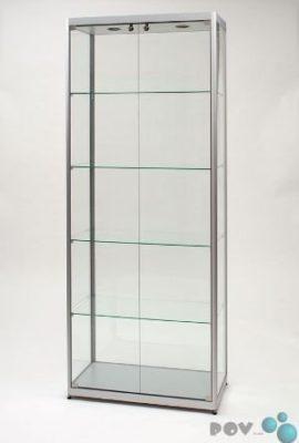 POV-Glasvitrine-MPC-800-Tech-silber-mit-Beleuchtung-und-2-Drehtren-Front-0