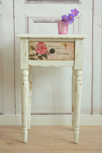 moebeldeal s er shabby chic beistelltisch rose wei. Black Bedroom Furniture Sets. Home Design Ideas