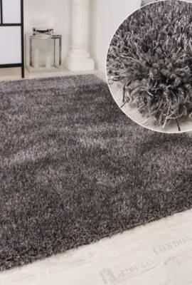 Shaggy-Teppich-Hochflor-Langflor-leicht-Meliert-Qualitativ-u-Preiswert-Uni-Grau-Grsse120x170-cm-0
