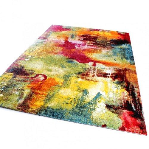 Teppich-Modern-Design-Teppich-Leinwand-Optik-Multicolour-Grn-Blau-Rot-Gelb-Grsse120x170-cm-0-0