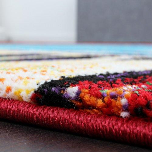 Teppich-Modern-Design-Teppich-Leinwand-Optik-Multicolour-Grn-Blau-Rot-Gelb-Grsse120x170-cm-0-1