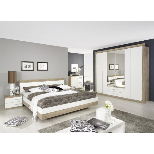 rauch-Schlafzimmer-Burgos-5-tlg-Eiche-Sanremo-Dekorwei-LIEGEFLCHE-180X200-CM-0