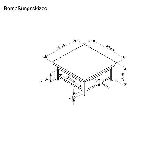 Couchtisch-Country-aus-MDF-Holz-mit-2-Ablageflchen-WeiBraun-0-1