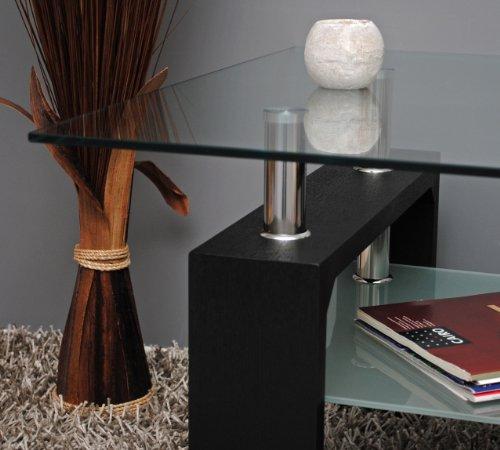 Design-Glastisch-Beistelltisch-70-x-70-cm-Edelstahl-Holz-Schwarz-8-mm-ESG-Glas-0-3