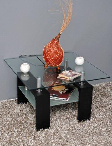 Design-Glastisch-Beistelltisch-70-x-70-cm-Edelstahl-Holz-Schwarz-8-mm-ESG-Glas-0-4