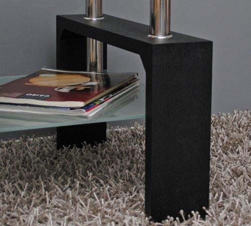 Design-Glastisch-Beistelltisch-70-x-70-cm-Edelstahl-Holz-Schwarz-8-mm-ESG-Glas-0-5