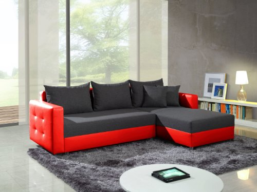 moebeldeal elegantes ledersofa arielle. Black Bedroom Furniture Sets. Home Design Ideas