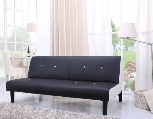 NEG-Design-Schlafsofa-HELIOS-schwarzwei-mit-Napalon-Leder-Bezug-Klappsofa-3-Sitzer-Liegeflche-179x108cm-sehr-bequem-0-0