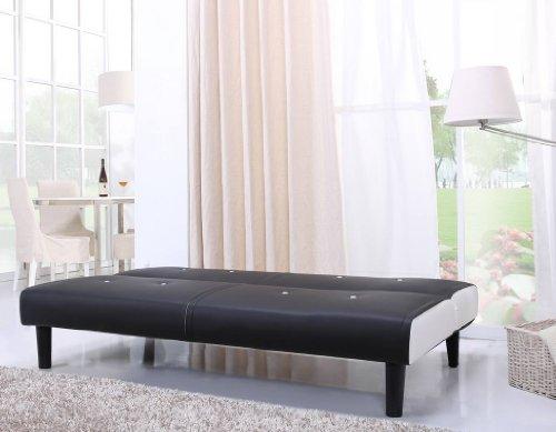 NEG-Design-Schlafsofa-HELIOS-schwarzwei-mit-Napalon-Leder-Bezug-Klappsofa-3-Sitzer-Liegeflche-179x108cm-sehr-bequem-0-2