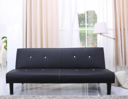 NEG-Design-Schlafsofa-HELIOS-schwarzwei-mit-Napalon-Leder-Bezug-Klappsofa-3-Sitzer-Liegeflche-179x108cm-sehr-bequem-0