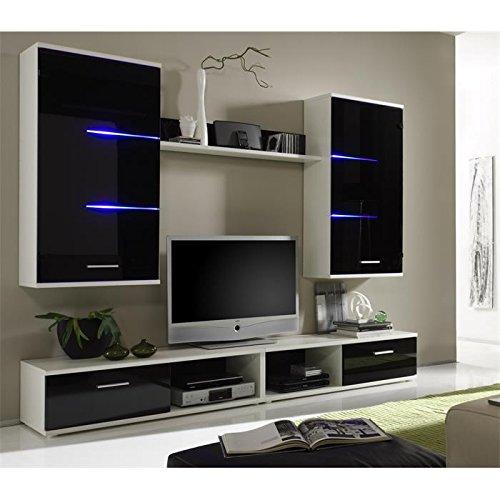 Wohnwand-Anbauwand-Schrankwand-weischwarz-inklusive-LED-Beleuchtung-0-0
