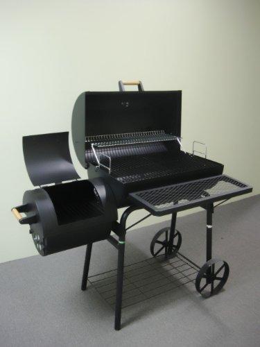 32kg-PROFI-XXL-Smoker-BBQ-GRILLWAGEN-Holzkohle-Grill-Grillkamin-ca-15-mm-Stahl-PROFI-QUALITT-OGA032-0