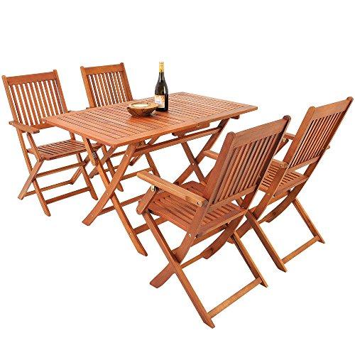 5-tlg-Sitzgarnitur-Sydney-Akazienholz-Sitzgruppe-Essgruppe-Gartengarnitur-Gartenmbel-0-0