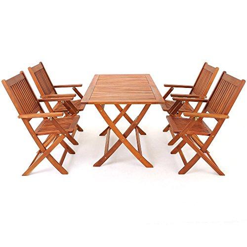 5-tlg-Sitzgarnitur-Sydney-Akazienholz-Sitzgruppe-Essgruppe-Gartengarnitur-Gartenmbel-0-1