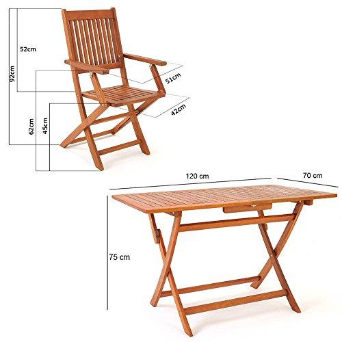 5-tlg-Sitzgarnitur-Sydney-Akazienholz-Sitzgruppe-Essgruppe-Gartengarnitur-Gartenmbel-0-4