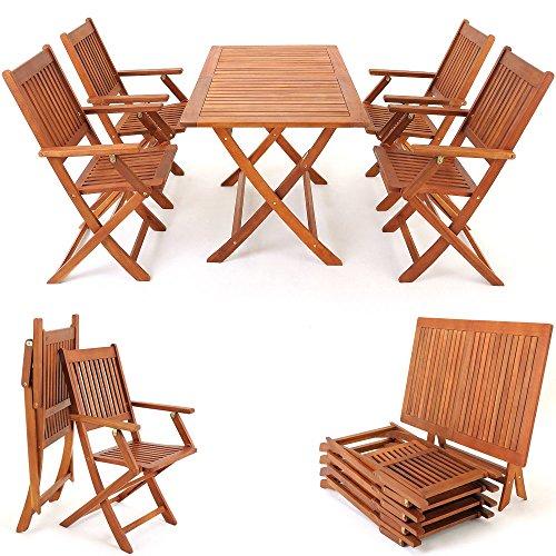 5-tlg-Sitzgarnitur-Sydney-Akazienholz-Sitzgruppe-Essgruppe-Gartengarnitur-Gartenmbel-0