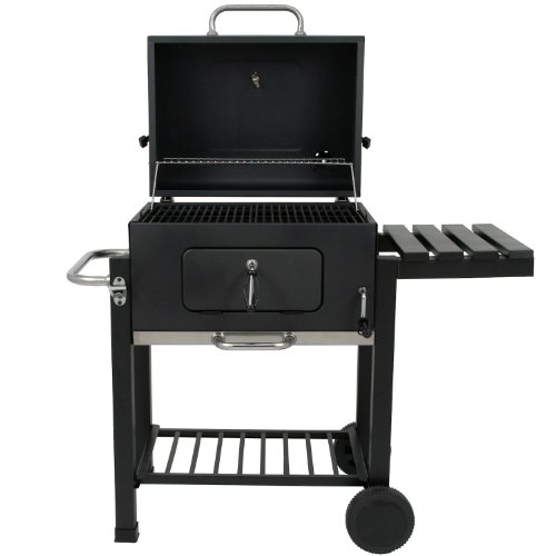 BBQ-Bull-Luxus-Grillwagen-Black-Oak-Holzkohle-Barbecue-Grill-Smoker-0-0