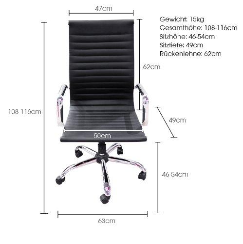 Brostuhl-Schreibtischstuhl-Drehstuhl-Chefsessel-schwarz-Echtleder-Alpha-Elegance-0-2