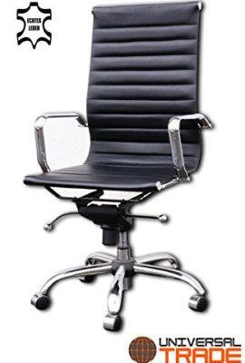 Brostuhl-Schreibtischstuhl-Drehstuhl-Chefsessel-schwarz-Echtleder-Alpha-Elegance-0