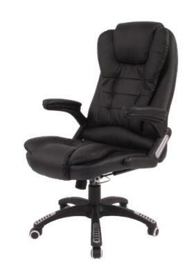 Brostuhl-Schreibtischstuhl-Massage-Brosessel-Drehstuhl-Wrme-Sessel-Liegend-Schwarz-0