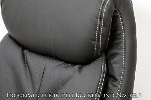 Chefsessel-Kings-Schwarz-Brostuhl-Schreibtischstuhl-Drehstuhl-Sessel-Stuhl-PokerStuhl-Casinostuhl-Schwarz-0-5