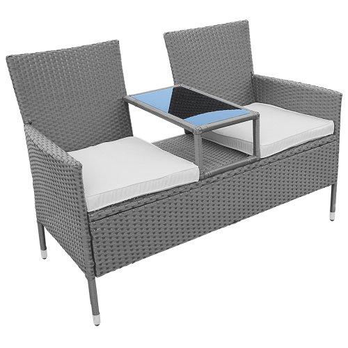 gartenbank kunststoff mit ablage 014957. Black Bedroom Furniture Sets. Home Design Ideas