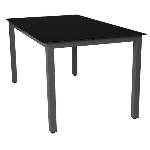 Gartentisch-Glastisch-Beistelltisch-Aluminium-DunkelgrauSchwarz-147x87cm-0-0