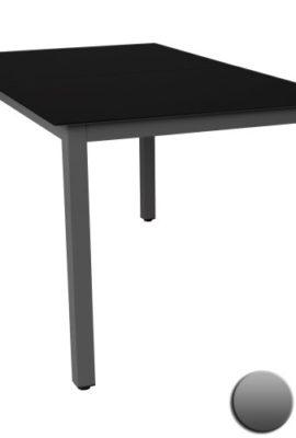 Gartentisch-Glastisch-Beistelltisch-Aluminium-DunkelgrauSchwarz-147x87cm-0