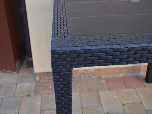Gartentisch-Tisch-Bistrotisch-Beistelltisch-Rattan-Optik-anthrazit-79-x-79-cm-0-1