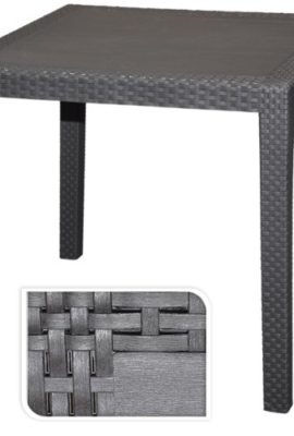 Gartentisch-Tisch-Bistrotisch-Beistelltisch-Rattan-Optik-anthrazit-79-x-79-cm-0