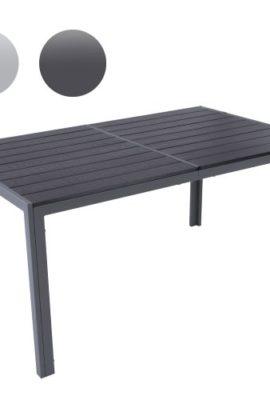 Gartentisch-fr-bis-zu-6-Personen-Alu-Tisch-Witterungs-und-UV-bestndig-Farbwahl-Gartenmbel-in-hellgrau-oder-dunkelgrau-0