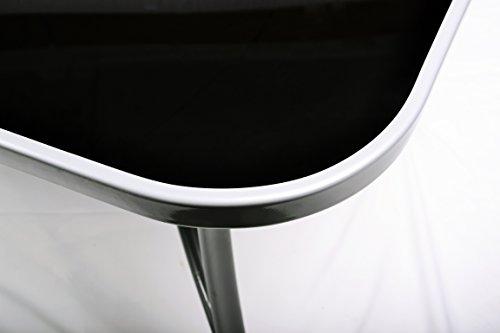 Metall-Gartentisch-Glasplatte-Glas-Tisch-schwarz-150-cm-silbergrau-0-2