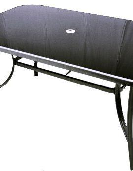 Metall-Gartentisch-Glasplatte-Glas-Tisch-schwarz-150-cm-silbergrau-0