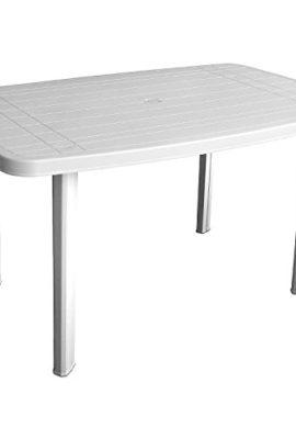 Robuster-Gartentisch-138x87cm-Kunststofftisch-Campingtisch-Beistelltisch-Kunststoff-Gartenmbel-Campingmbel-Weiss-0