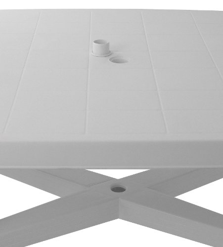 Robuster-Gartentisch-138x88cm-rechteckige-Tischplatte-Beistelltisch-Campingtisch-Balkontisch-Terrassentisch-Kunststofftisch-Gartenmbel-Balkonmbel-Campingmbel-Terrassenmbel-Kunststoff-0-1
