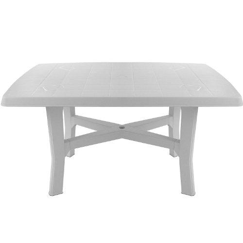 Robuster-Gartentisch-138x88cm-rechteckige-Tischplatte-Beistelltisch-Campingtisch-Balkontisch-Terrassentisch-Kunststofftisch-Gartenmbel-Balkonmbel-Campingmbel-Terrassenmbel-Kunststoff-0