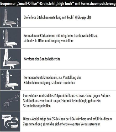 Topstar-Brostuhl-mit-Bandscheibensitz-schwarz-Point-30-Teppichbodenrollen-0-5