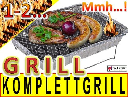 10-x-Komplettset-Einweggrill-Edelstahl-Grill-Holzkohlegrill-Klappgrill-Gartengrill-Picknickgrill-MIT-HOLZKOHLE-SCHNELL-UND-SICHER-GRILLEN-Faltgrill-0-0