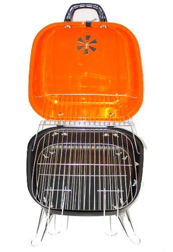 BBQ-Grill-Picknickgrill-Tragbarer-Grill-34cm-Grn-Trkis-Rosa-Orange-Orange-0-0