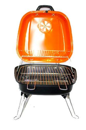 BBQ-Grill-Picknickgrill-Tragbarer-Grill-34cm-Grn-Trkis-Rosa-Orange-Orange-0-3