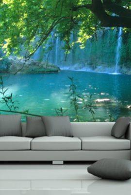 Bilderdepot24-selbstklebende-Fototapete-Wasserfall-155x100-cm-direkt-vom-Hersteller-0