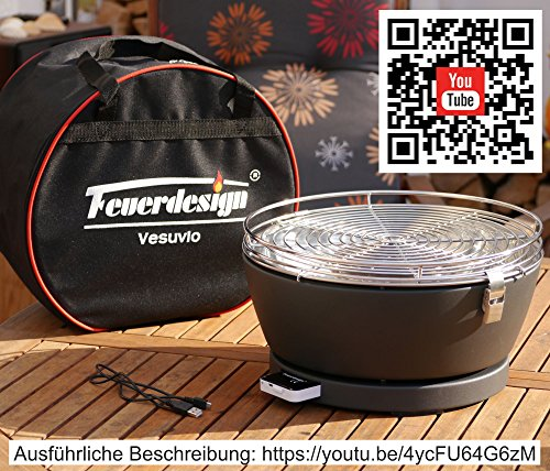 Feuerdesign-VESUVIO-Hllenheier-Tischgrill-Picknickgrill-Bootsgrill-mit-Akku-Lfter-Farbe-GELB-0-0