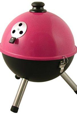 Kugelgrill-mini-rund-barbeque-Grill-Standgrill-Garten-BBQ-Picknickgrill-Rosa-0