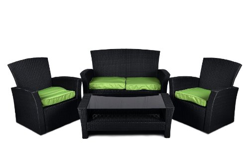 moebeldeal rattan set 4 teilig. Black Bedroom Furniture Sets. Home Design Ideas