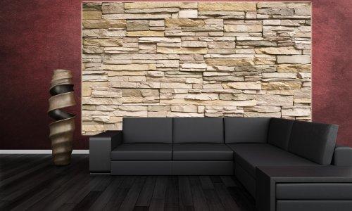 Steinwand-Steinmauer-Fototapete-Asian-Stonewall-beige-hellbraun-Wandbild-Steine-Wanddeko-GREAT-ART-0-5