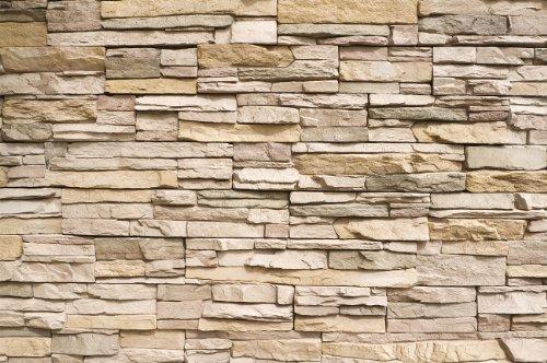 Steinwand-Steinmauer-Fototapete-Asian-Stonewall-beige-hellbraun-Wandbild-Steine-Wanddeko-GREAT-ART-0