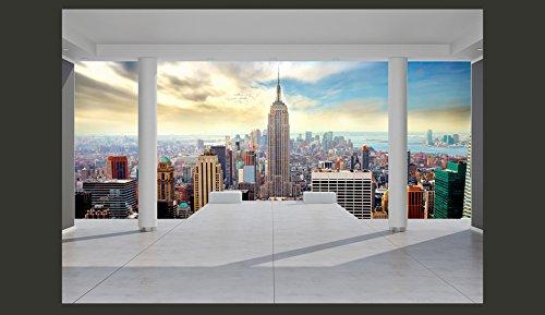Vlies-Fototapete-350x245-cm-Top-Tapete-Wandbilder-XXL-Wandbild-Bild-Fototapeten-Tapeten-Wandtapete-Wanddeko-Wand-City-New-York-Architektur-10110904-35-0-0